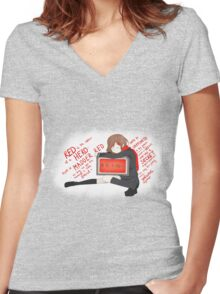 Ayano Takane (Lyrics) Women's Fitted V-Neck T-Shirt