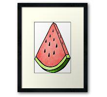 Watermelon Fruit Design Framed Print