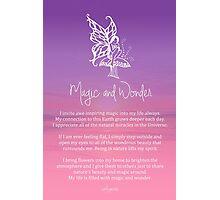 Affirmation - Magic and Wonder Photographic Print