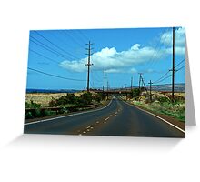 Red dust road in paradise Greeting Card
