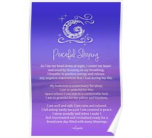 Affirmation - Peaceful Sleeping Poster