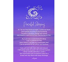 Affirmation - Peaceful Sleeping Photographic Print