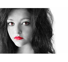 Red Eye Girl Photographic Print