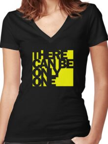 Highlander - There Can Be Only One Women's Fitted V-Neck T-Shirt
