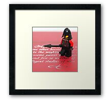 Miniature Hero Framed Print