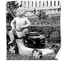 Lawn Mower Baby Poster