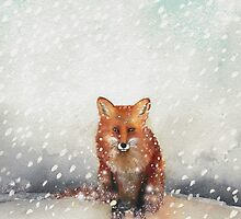 Red Fox in the Snow by Ray Shuell