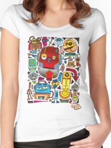 CRAZY DOODLE Women's Fitted Scoop T-Shirt
