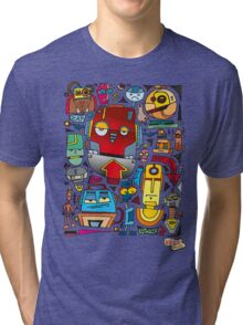 CRAZY DOODLE Tri-blend T-Shirt
