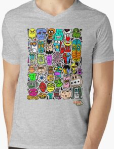 CRAZY DOODLE 2 Mens V-Neck T-Shirt