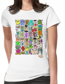 CRAZY DOODLE 2 Womens Fitted T-Shirt
