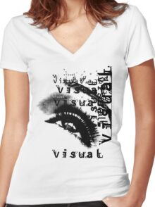 EYE OF VISION Women's Fitted V-Neck T-Shirt