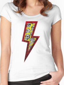 SKULL STRIKE Women's Fitted Scoop T-Shirt