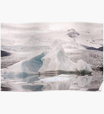 Fjallsárlón Icebergs Poster