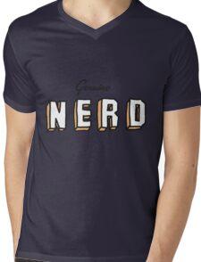 OLD SCHOOL NERD Mens V-Neck T-Shirt