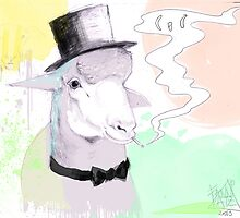 Smokin' sheep by FANNIKATZ