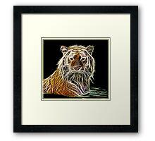 Fractilius TIGER Framed Print