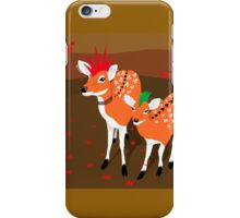 punk deer with skull tattoo iPhone Case/Skin