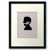 Trumpet mouth design Framed Print