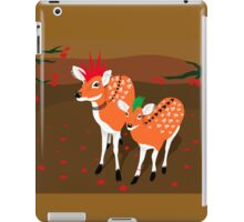 punk deer with skull tattoo iPad Case/Skin