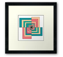 Abstract colorful Retro geometric hexagon pattern  Framed Print