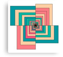 Abstract colorful Retro geometric hexagon pattern  Canvas Print