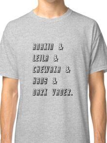 Star Wars Friends T-shirt Classic T-Shirt