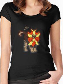 Pyroar Distressed Women's Fitted Scoop T-Shirt