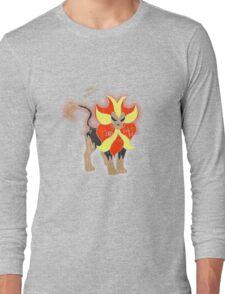 Pyroar Distressed Long Sleeve T-Shirt