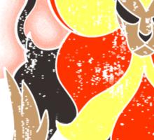 Pyroar Distressed Sticker