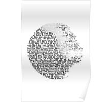Death Star Quotes T-Shirt Poster