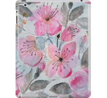 Cute watercolor hand paint flowers design iPad Case/Skin