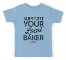 Support Your Local Baker (Black Print) Kids Tee