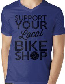 Support Your Local Bike Shop (Black Print) Mens V-Neck T-Shirt