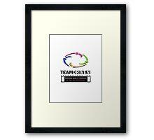 TDT Logo Design w/ saying Framed Print