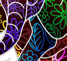 Elephant Floral Batik Art Design Sticker