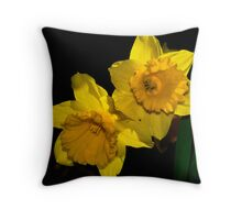 A Pair of Daffodils Throw Pillow