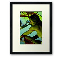 Projection shoot with girl Framed Print