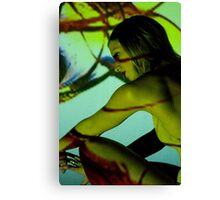 Projection shoot with girl Canvas Print