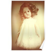 Vintage Collectable Rare Doll Old Photograph Style Poster