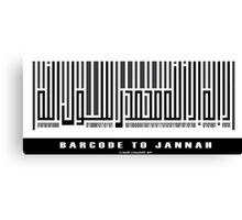 Barcode to Jannah Canvas Print
