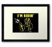 I'm Ridin' Solo Framed Print
