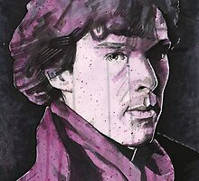 "Sherlock Holmes ""A Study in Pink"" - Benedict Cumberbatch by James Ferguson - Darkinc1"
