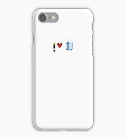 I Love Doctor who Pixel Case iPhone Case/Skin