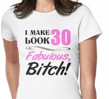 Fabulous 30th Birthday T-Shirt Womens Fitted T-Shirt