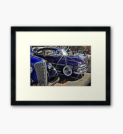 Blue Auto Bling Framed Print