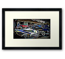Open 24 Hours Framed Print