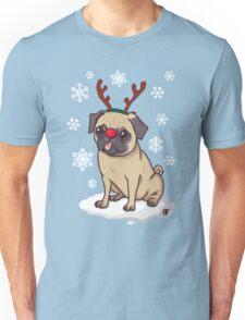 Pug Reindeer  Unisex T-Shirt