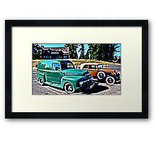 Panel Wagen and a Roadster Framed Print