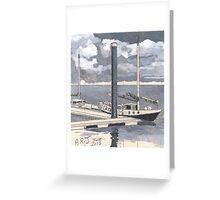 Boats at Burnham-on-Sea Greeting Card